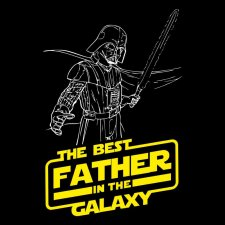 Maglietta Best Father in the Galaxy