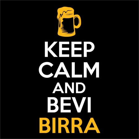 Maglietta Keep Calm and Bevi Birra