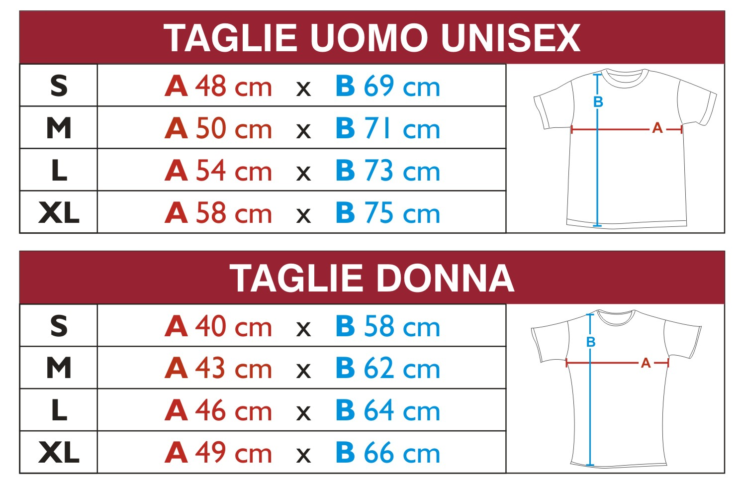Misure Magliette Taglie E Cinture Shirt Cinbike T Di IYeWH9ED2