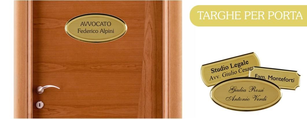 Targhette per porta casa ufficio personalizzabili online - Targhette porta ...