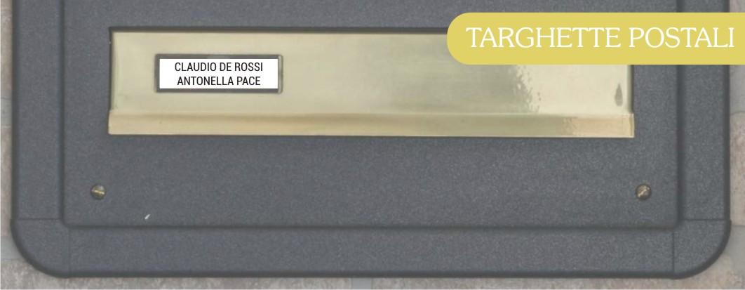 Targhetta Cassetta Postale.Targhe Per Cassette Postali Personalizzabili Online