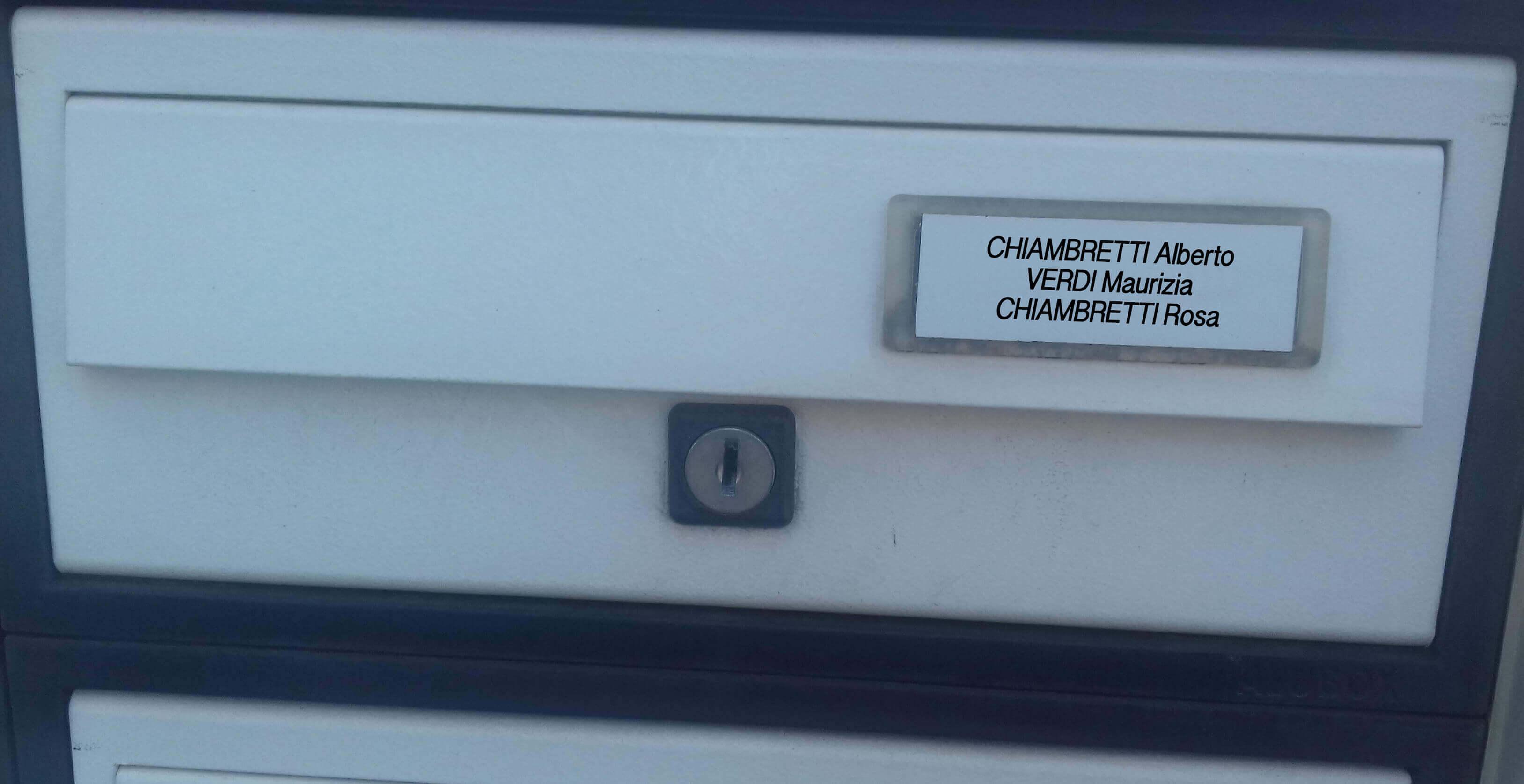 Targhetta Cassetta Postale.Targhetta Posta In Plastica 8030 Con Adesivo Compreso