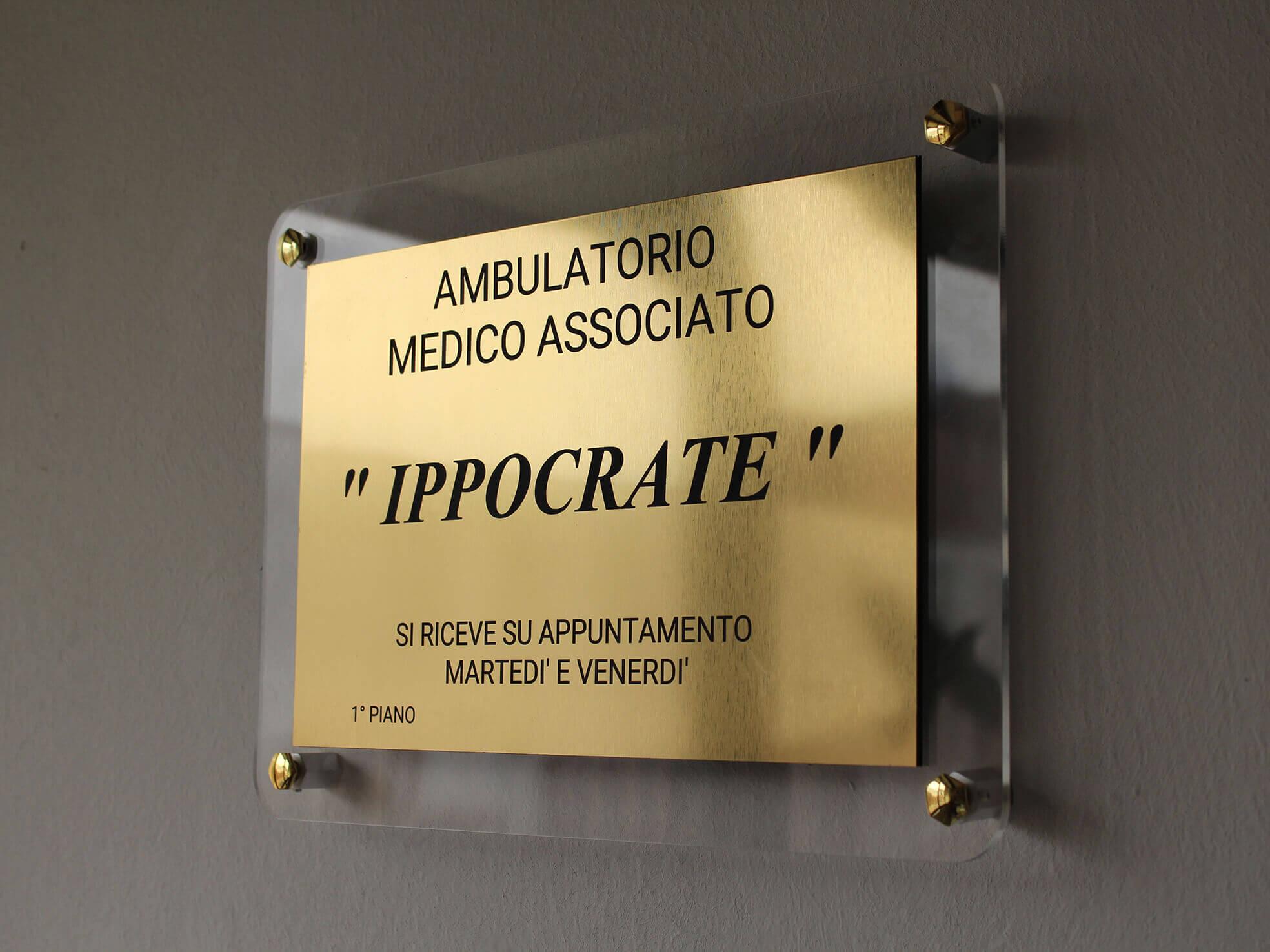 Targhe Ufficio Personalizzate : Targhe professionali per studi associati medici personalizzate