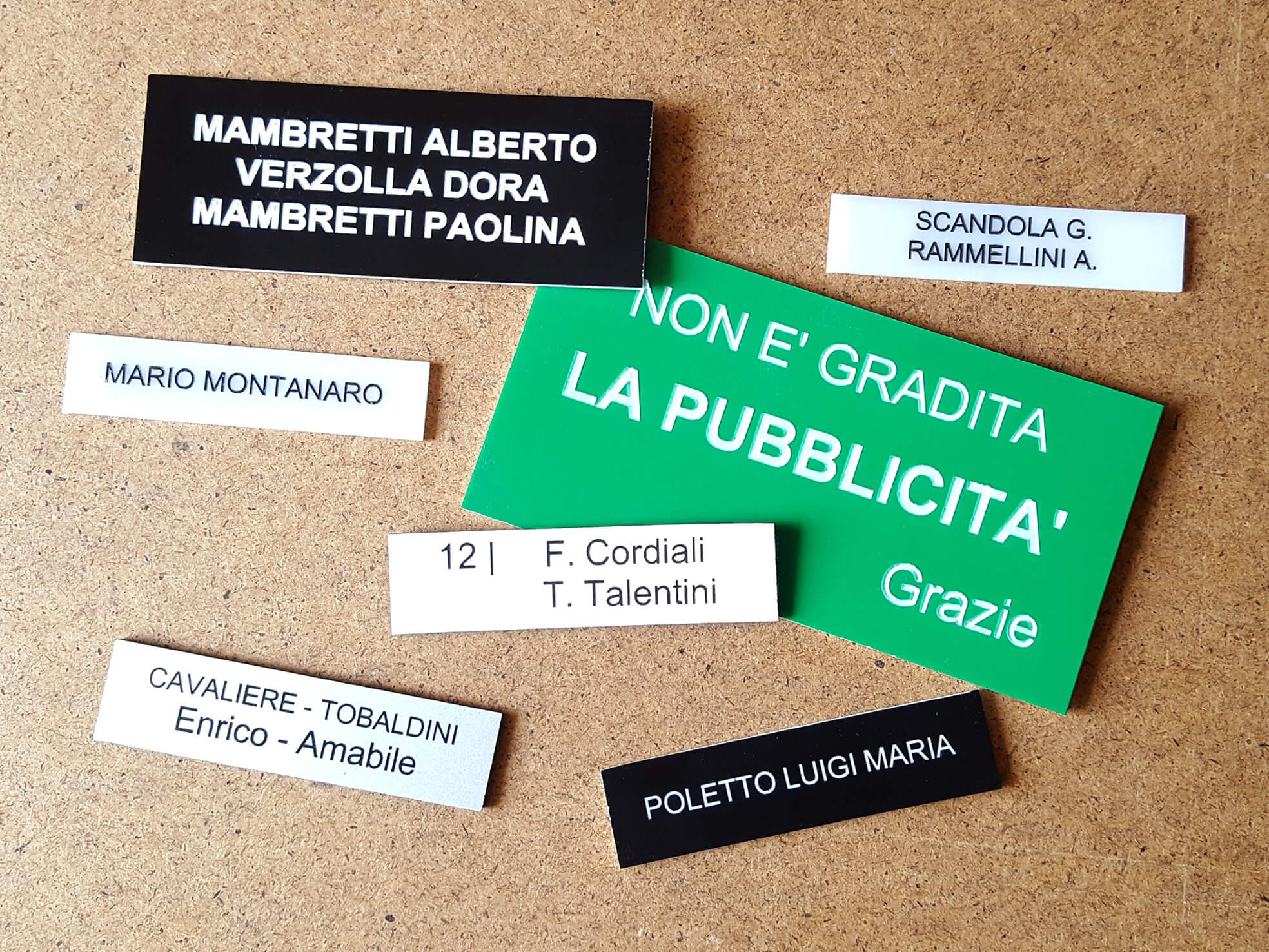Targhetta Cassetta Postale.Targhette Cassetta Postale Di Tutte Le Dimensioni Track