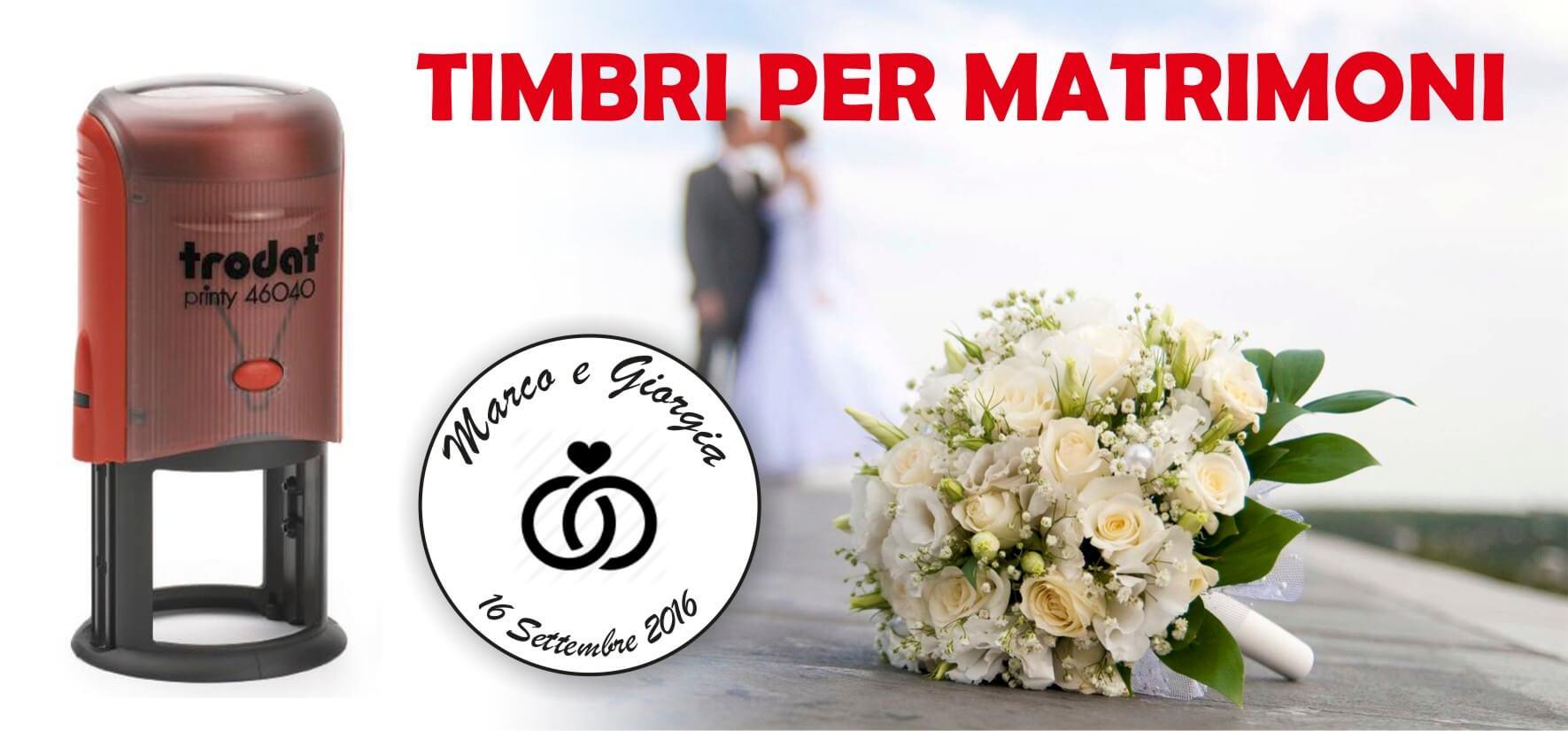 Conosciuto Timbri per Matrimonio HP97